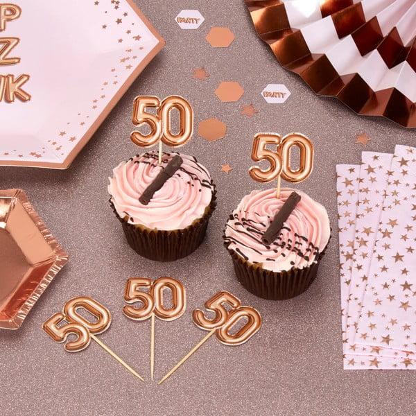 Sada 20 špáradiel s papierovým číslom 50 Neviti Glitz & Glamour