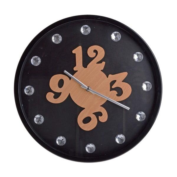 Nástenné hodiny Black Wall