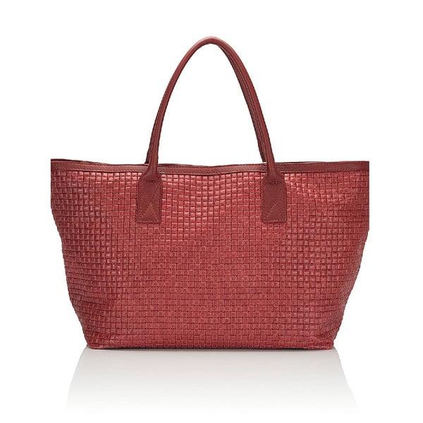 Kožená kabelka Giorgio Costa 15014 Red
