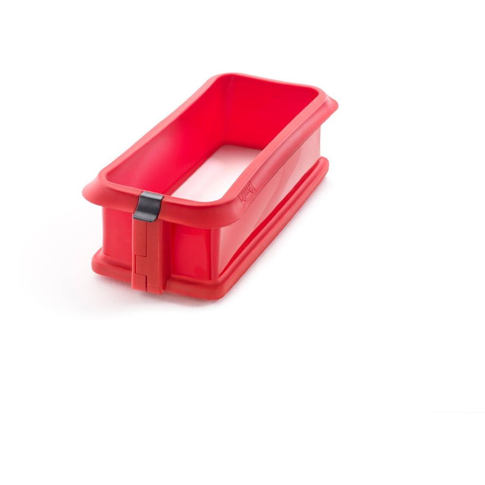 Červená silikónová rozbaľovacia forma na tortu Lékué