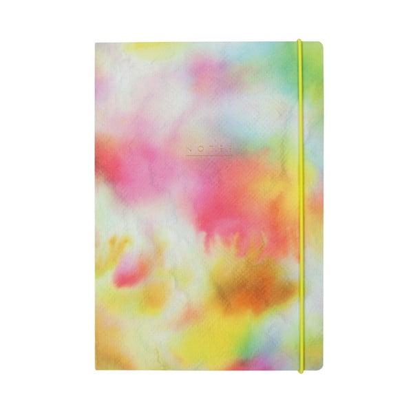 Linajkový zápisník B5 Portico Designs Watercolor, 80stránok