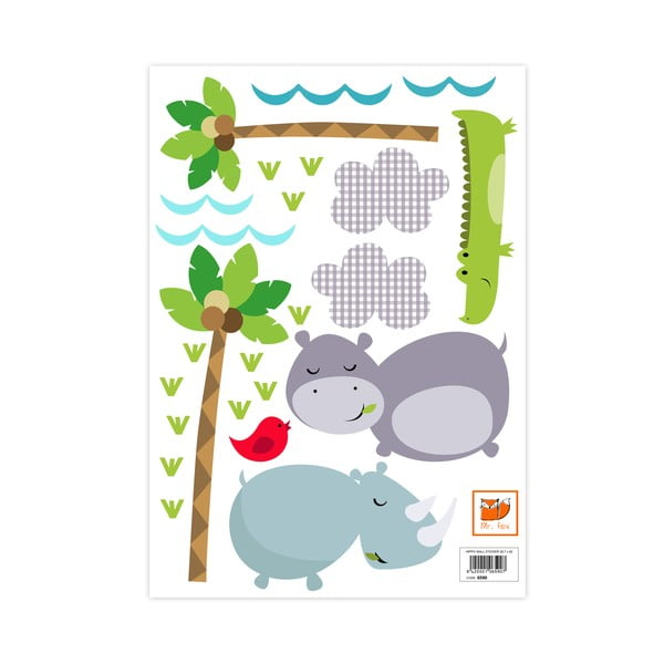 Samolepka na stenu Hippo