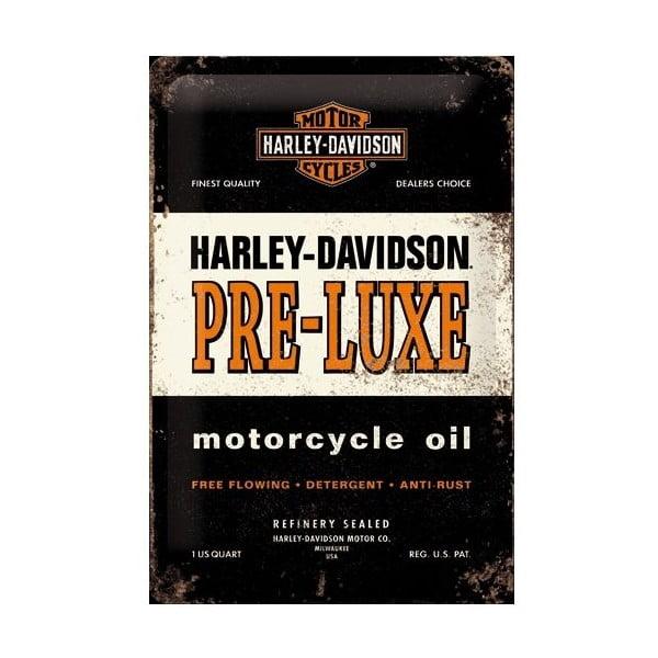 Plechová ceduľa Harley Pre-Luxe, 20x30 cm