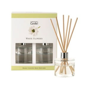Sada 2 aromatických difuzérov Copenhagen Candles White Flowers, 40 ml
