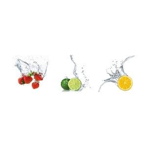 Samolepiace obrazy Splashing Fruits, 30x30 cm