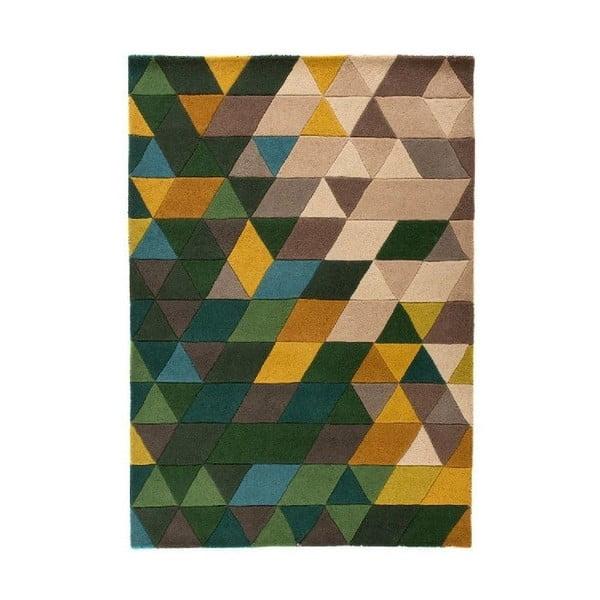 Zelený vlnený koberec Flair Rugs Prism, 160x220cm