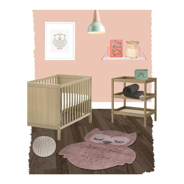 Detský hnedý koberec Nattiot Sweet Pepa, 95 x 120 cm