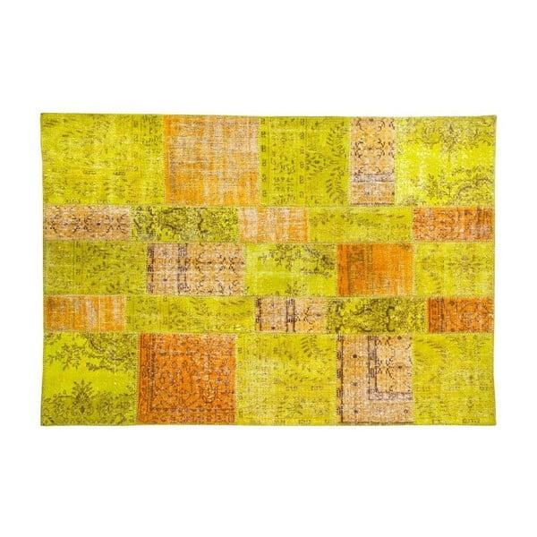 Vlnený koberec Allmode Green Or, 150x80 cm
