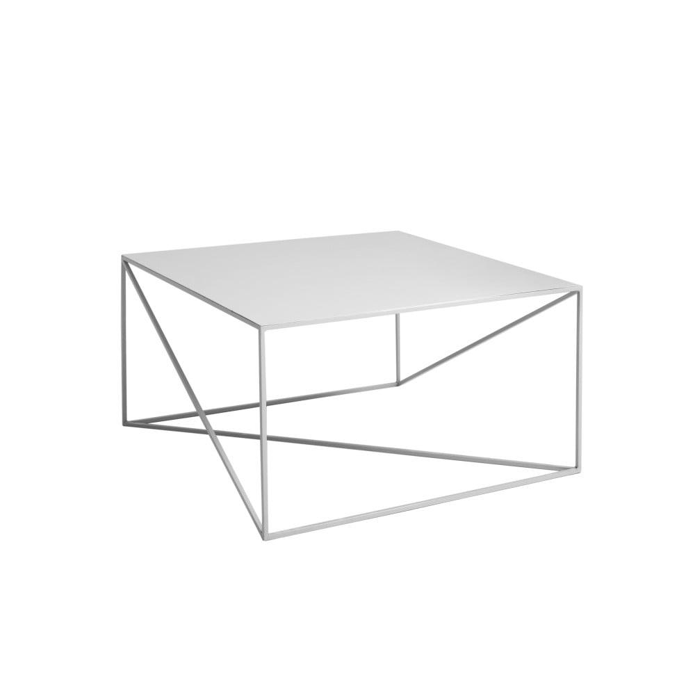 Sivý konferenčný stolík Custom Form Memo, 80 x 80 cm