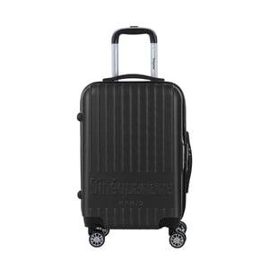 Čierny cestovný kufor na kolieskách s kódovým zámkom SINEQUANONE Iskra, 44 l