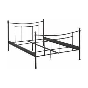 Čierny kovový posteľový rám Støraa Victor