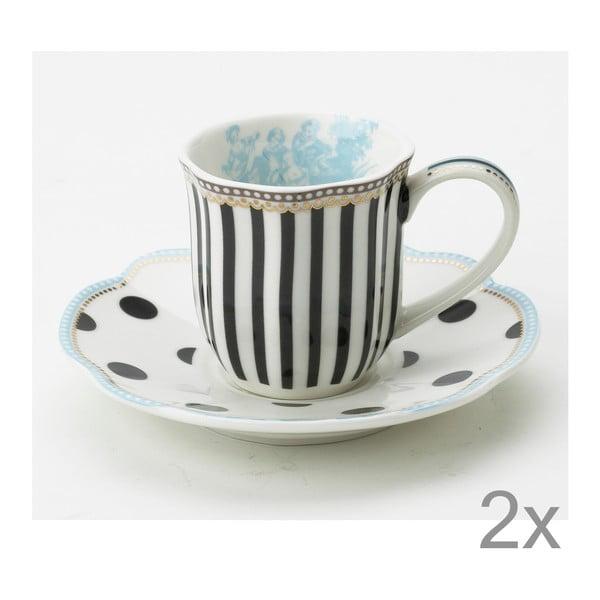 Porcelánová šálka na espresso s tanierikom Toile od Lisbeth Dahl, 2 ks