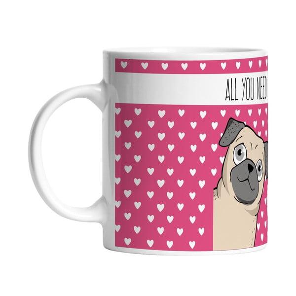 Keramický hrnček I Love My Dog, 330 ml
