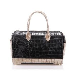 Kožená kabelka Livie, čierna