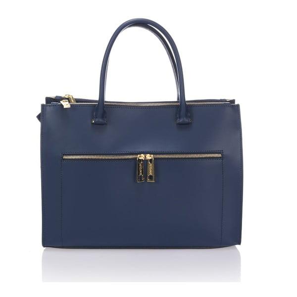Kožená kabelka Krole Kate, modrá