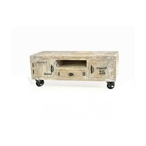 Svetlý TV stolík z mangového dreva SOB Yerevan