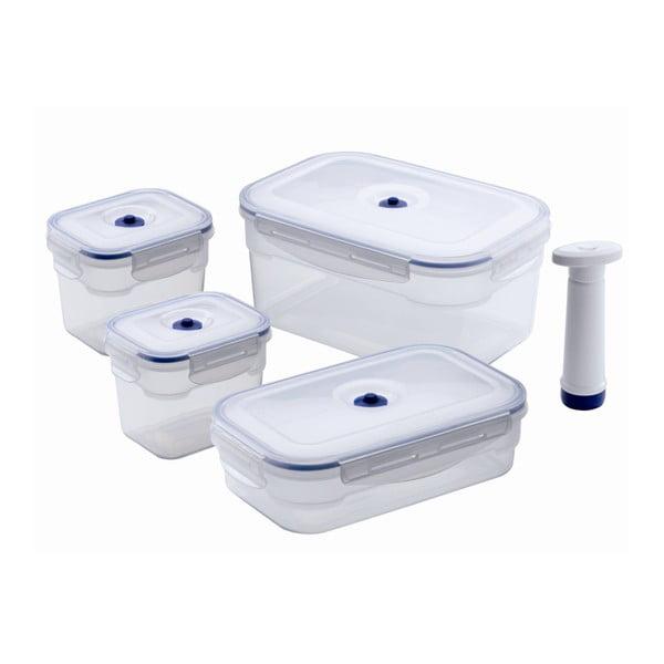 Set 4 boxov na potraviny a vakuovej pumpy Compactor Food Saver