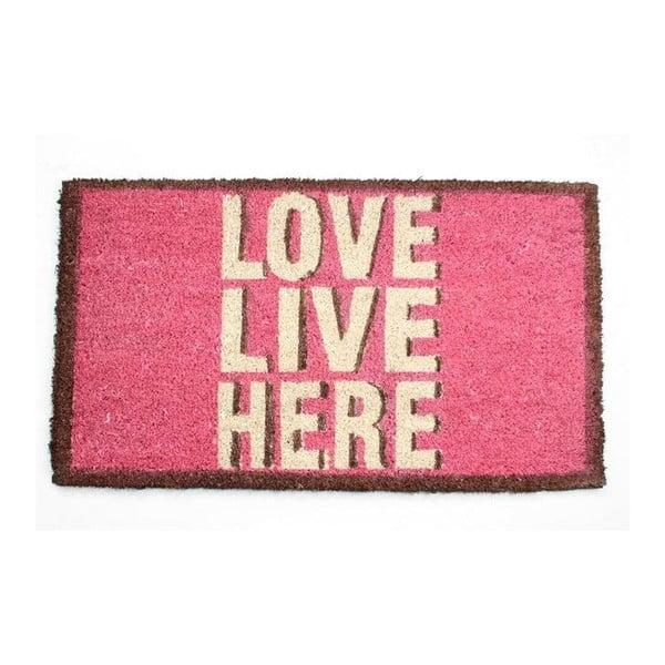 Rohožka Love, Live, Here, 40x70 cm