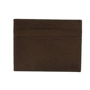 Tmavohnedá pánska kožená peňaženka na bankovky a vizitky Billionaire, 8 × 10 cm