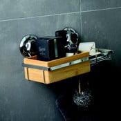 Bambusový nástenný košík s miskou na mydlo Compactor Spa