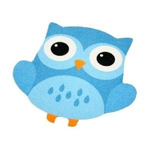 Koberec Owls - modrá sova, 66x66 cm