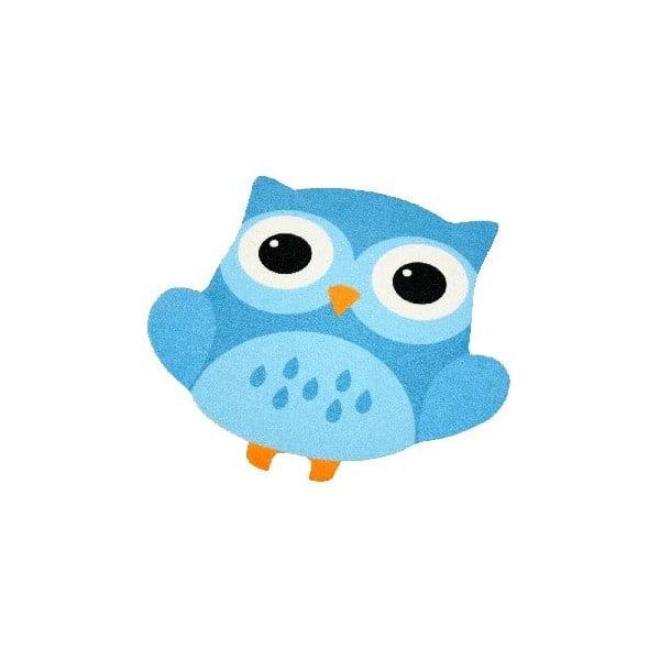 Detský modrý koberec Zala Living Owl, 66×66cm