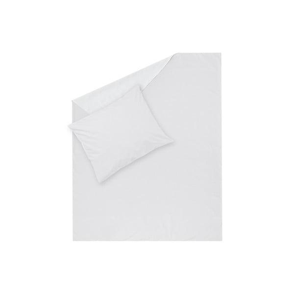 Biele obliečky Hawke&Thorn Parker Simple, 150 x 200 cm + vankúš 50 x 60 cm