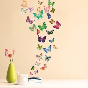 Samolepka na stenu Húf farebných motýlikov so Swarovski kamienkami