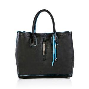 Čierna kožená kabelka Gianni Conti Magdalena