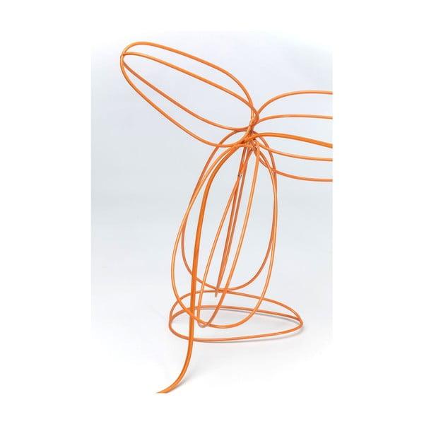 Oranžová stojacia lampa Kare Design Dog