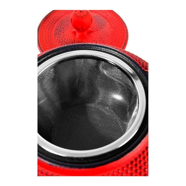 Liatinová čajová kanvica v červenej farbe Bambum Taşev Linden, 750 ml
