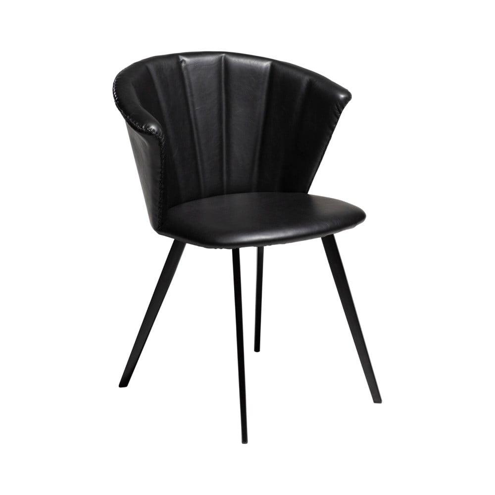 Čierne kreslo z eko kože DAN–FORM Denmark Merge