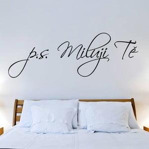 Dekoratívna samolepka na stenu P.S. Milujem ťa