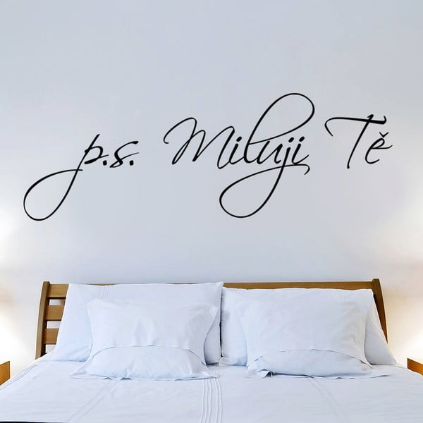 Samolepka na stenu P.S. Ľúbim Ťa