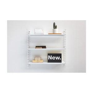 3-poschodový regál s bielymi policami Metaltex Libro