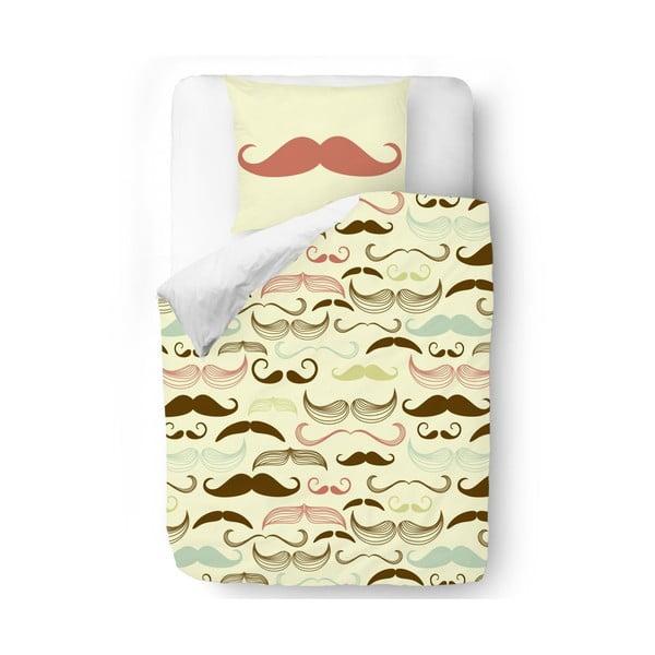 Obliečky Brown Mustache, 140x200 cm