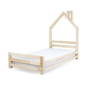 Detská posteľ z lakovaného borovicového dreva Benlemi Wally, 80×160cm