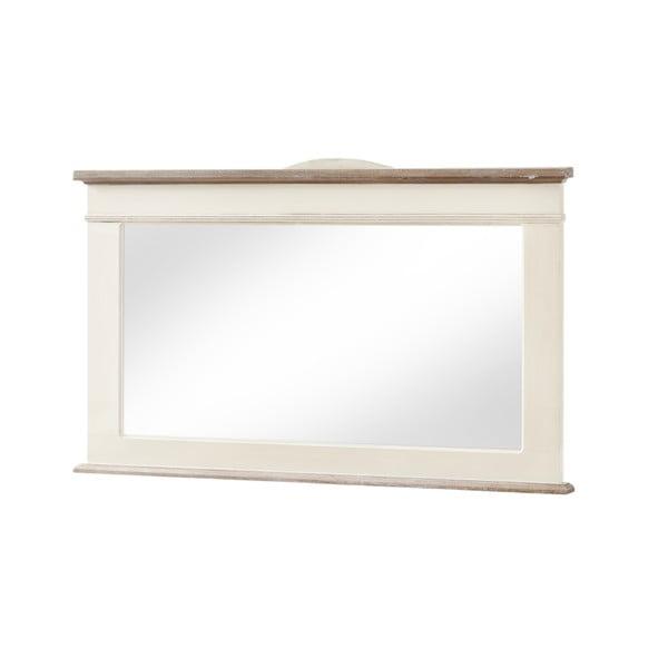Zrkadlo v krémovobielomráme z topoľového dreva Livin Hill Rimini, výška 57 cm