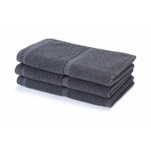 Tmavosivý uterák Adagio, 30 x 50 cm