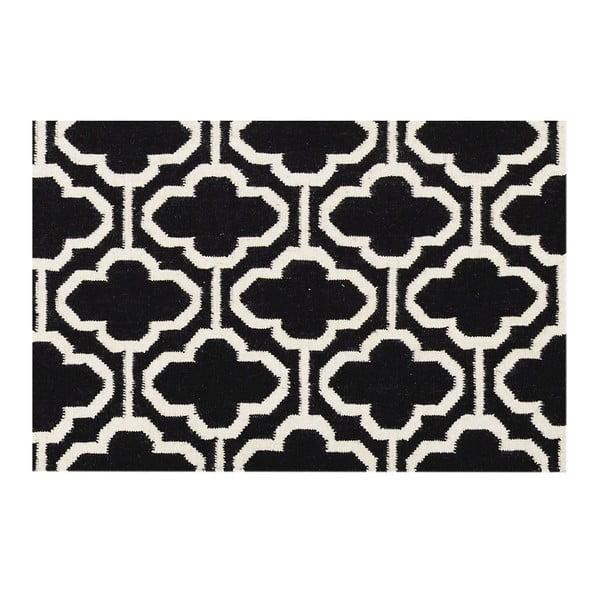 Vlnený koberec Penelope Black, 140x200 cm