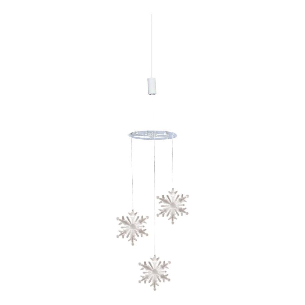 Závesná dekorácia s LED svetlami Naeve, výška 75 cm