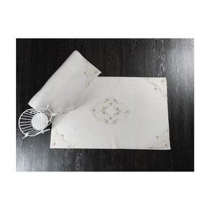 Sada 2 svetlobéžových bavlnených predložiek do kúpeľne Confetti Perla, 50×60 cm