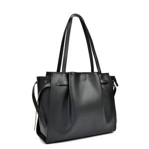 Čierna kožená kabelka Anna Luchini Lola