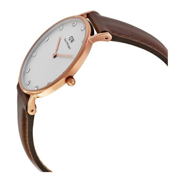 Dámske hodinky s koženým remienkom a ciferníkom ružovozlatej farby Daniel Wellington St Mawes Rose, ⌀34 mm