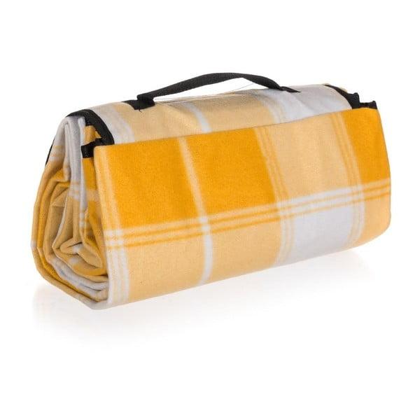 Kempingová deka Discovery, 140x170 cm, žltá