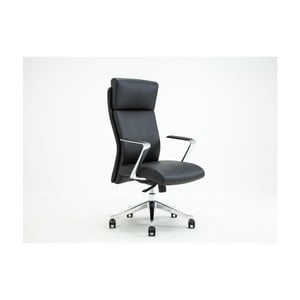 Čierna otočná kancelárska stolička RGE Elegant