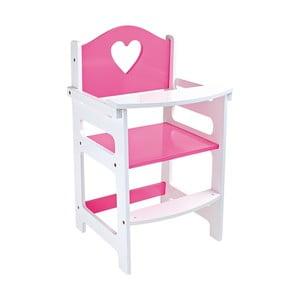 Ružová detská stolička pre bábiky Legler