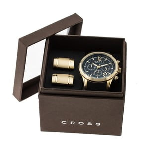 Set pánských hodinek a manžetových knoflíčků Agency