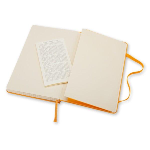 Zápisník Moleskine Hard 21x13 cm, žltý + štvorčekové stránky