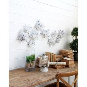 Nástenná dekorácia Fish Pannel White Antique